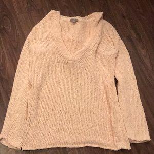 J Jill Light Pink Hooded Sweatshirt